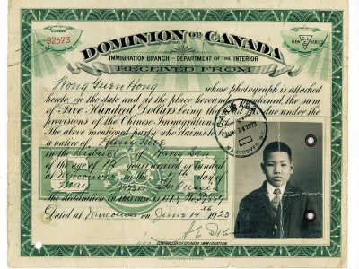 Chinese had tax immigration image