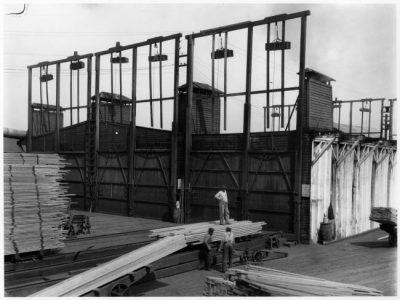 Sikh loading lumber at BC Mills