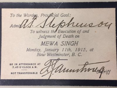 ticket to view Mewa Singh's hanging..jpg 1
